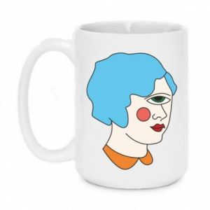 Mug 450ml Girl with one eye - PrintSalon
