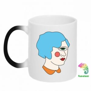 Chameleon mugs Girl with one eye - PrintSalon