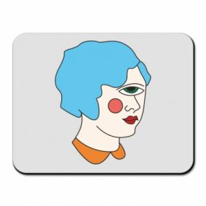Mouse pad Girl with one eye - PrintSalon