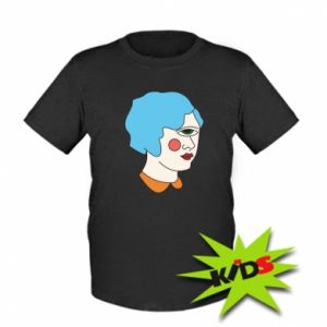 Kids T-shirt Girl with one eye - PrintSalon