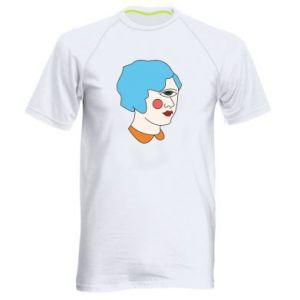 Men's sports t-shirt Girl with one eye - PrintSalon