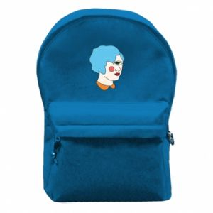 Backpack with front pocket Girl with one eye - PrintSalon