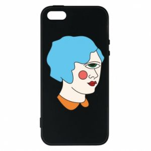 Phone case for iPhone 5/5S/SE Girl with one eye - PrintSalon