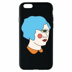 Phone case for iPhone 6/6S Girl with one eye - PrintSalon
