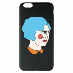 Phone case for iPhone 6 Plus/6S Plus Girl with one eye - PrintSalon