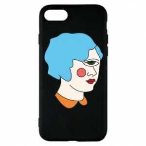 Phone case for iPhone 8 Girl with one eye - PrintSalon
