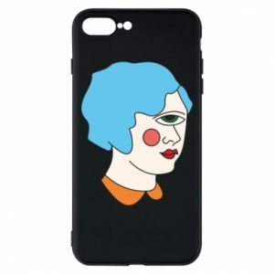 Phone case for iPhone 8 Plus Girl with one eye - PrintSalon