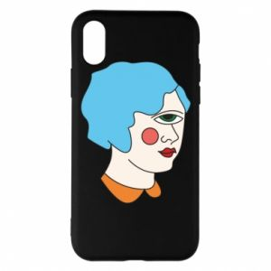 Phone case for iPhone X/Xs Girl with one eye - PrintSalon