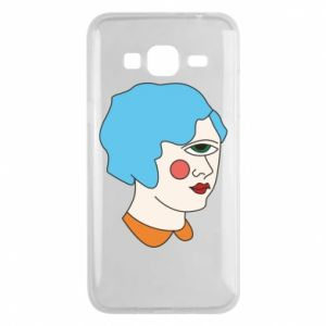 Phone case for Samsung J3 2016 Girl with one eye - PrintSalon