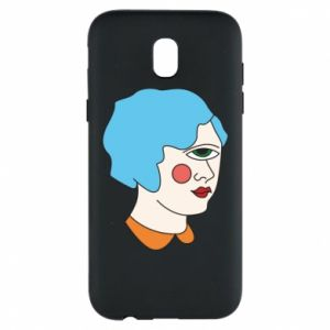Phone case for Samsung J5 2017 Girl with one eye - PrintSalon