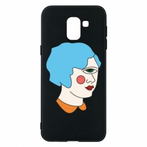 Phone case for Samsung J6 Girl with one eye - PrintSalon