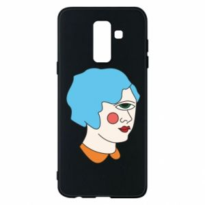 Phone case for Samsung A6+ 2018 Girl with one eye - PrintSalon