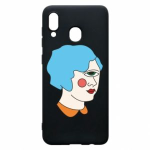 Phone case for Samsung A20 Girl with one eye - PrintSalon