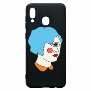 Phone case for Samsung A30 Girl with one eye - PrintSalon