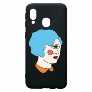 Phone case for Samsung A40 Girl with one eye - PrintSalon