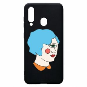 Phone case for Samsung A60 Girl with one eye - PrintSalon