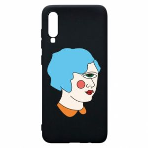 Phone case for Samsung A70 Girl with one eye - PrintSalon