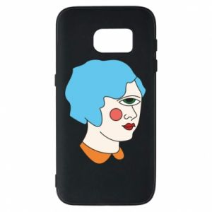 Phone case for Samsung S7 Girl with one eye - PrintSalon