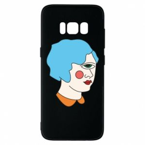 Phone case for Samsung S8 Girl with one eye - PrintSalon