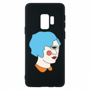 Phone case for Samsung S9 Girl with one eye - PrintSalon