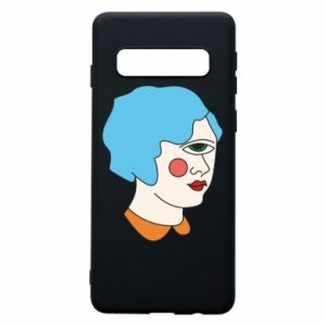 Phone case for Samsung S10 Girl with one eye - PrintSalon