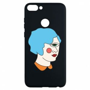 Phone case for Huawei P Smart Girl with one eye - PrintSalon