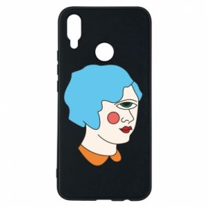 Phone case for Huawei P Smart Plus Girl with one eye - PrintSalon