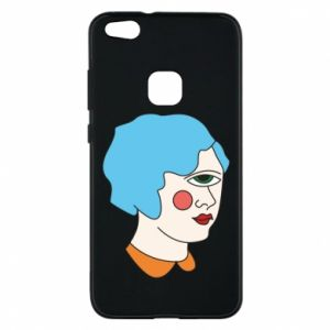 Phone case for Huawei P10 Lite Girl with one eye - PrintSalon