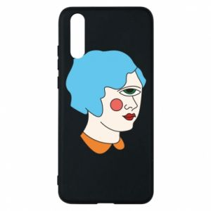 Phone case for Huawei P20 Girl with one eye - PrintSalon