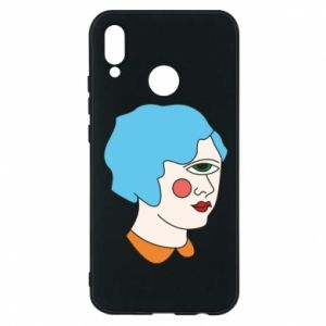 Phone case for Huawei P20 Lite Girl with one eye - PrintSalon