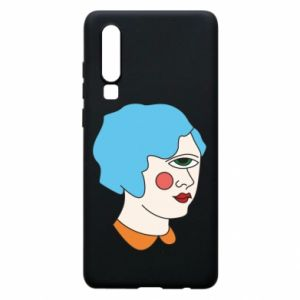 Phone case for Huawei P30 Girl with one eye - PrintSalon