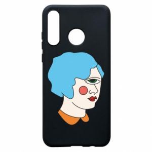Phone case for Huawei P30 Lite Girl with one eye - PrintSalon