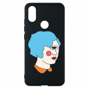 Phone case for Xiaomi Mi A2 Girl with one eye - PrintSalon