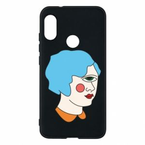 Phone case for Mi A2 Lite Girl with one eye - PrintSalon