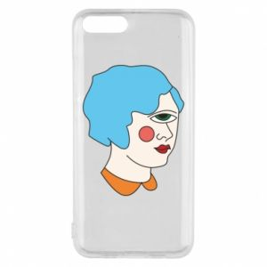 Phone case for Xiaomi Mi6 Girl with one eye - PrintSalon