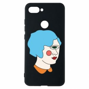 Phone case for Xiaomi Mi8 Lite Girl with one eye - PrintSalon