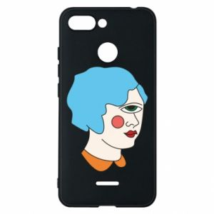 Phone case for Xiaomi Redmi 6 Girl with one eye - PrintSalon