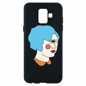 Phone case for Samsung A6 2018 Girl with one eye - PrintSalon