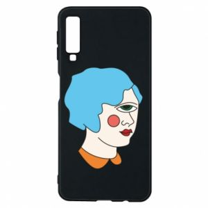 Phone case for Samsung A7 2018 Girl with one eye - PrintSalon