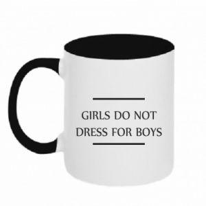 Kubek dwukolorowy Girls do not dress for boys
