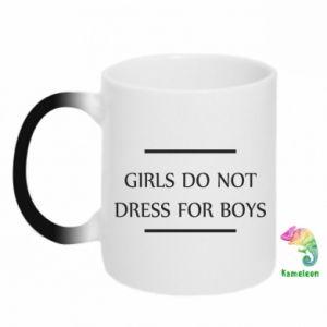 Kubek-kameleon Girls do not dress for boys