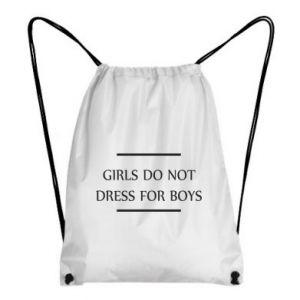 Plecak-worek Girls do not dress for boys
