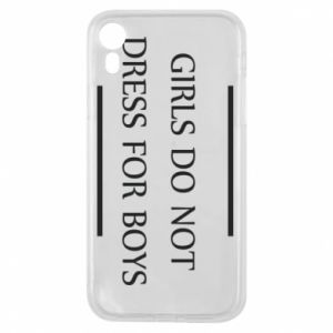 Etui na iPhone XR Girls do not dress for boys