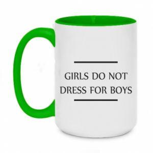 Kubek dwukolorowy 450ml Girls do not dress for boys