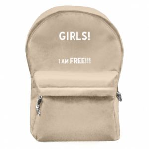 Backpack with front pocket Girls I am free