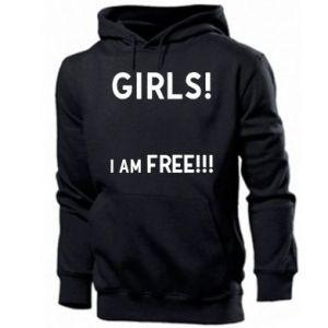 Men's hoodie Girls I am free