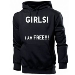 Bluza z kapturem męska Girls I am free