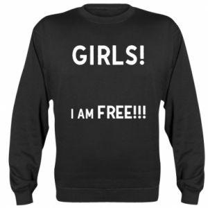 Sweatshirt Girls I am free