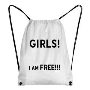 Plecak-worek Girls I am free
