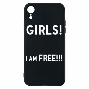 Phone case for iPhone XR Girls I am free